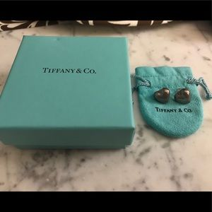 Tiffany sterling heart earrings